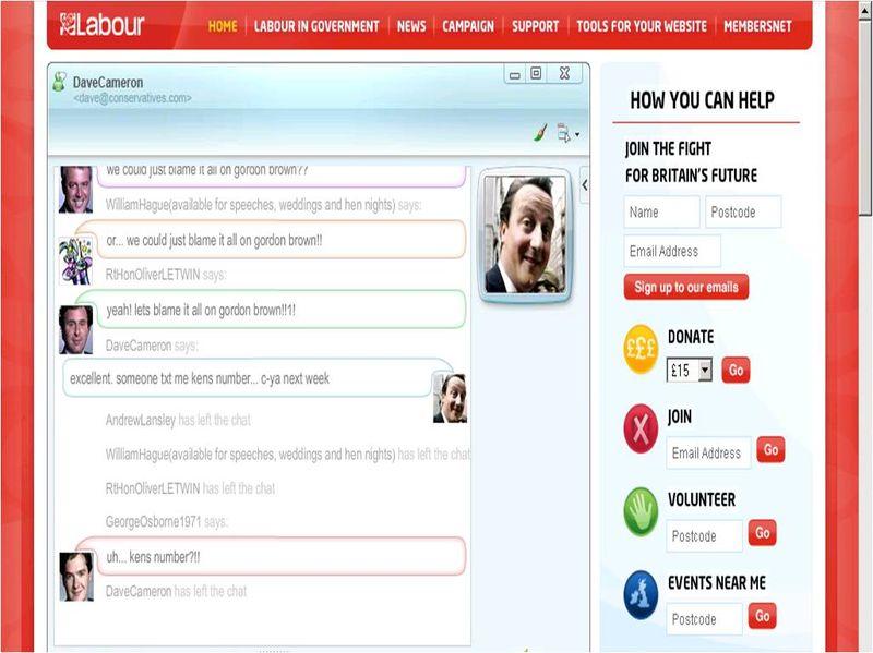 Labour web cabinet